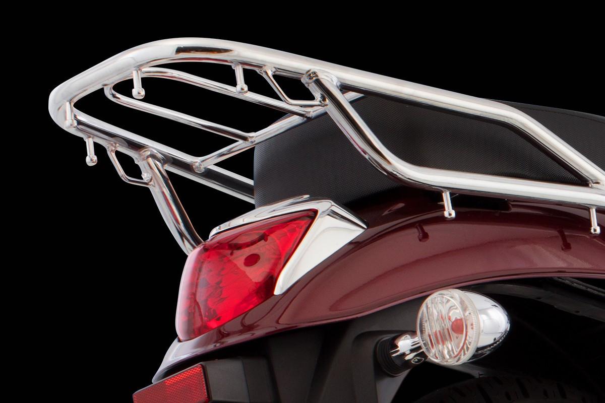 Imagem do porta-objeto nivelado com o banco da Chopper