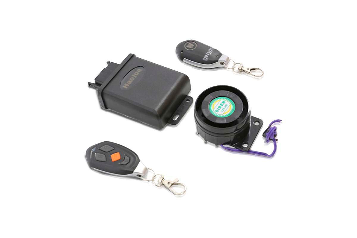 Imagem componentes alarme antifurto DK 150 S em fundo branco