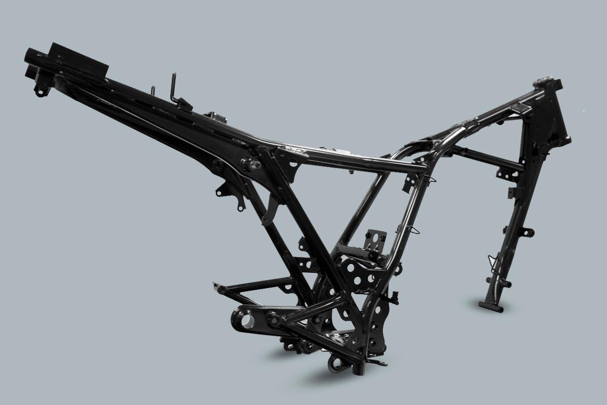 Imagem do chassi da DK 150 S em fundo cinza