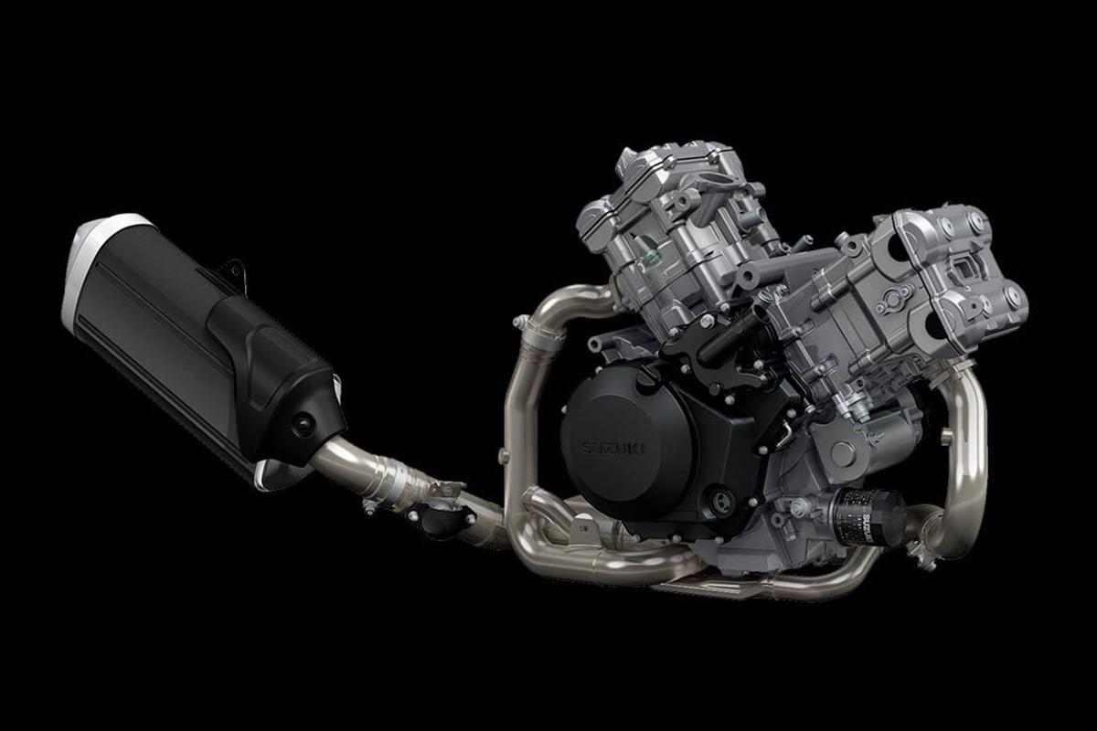 A imagem do motor em fundo preto.