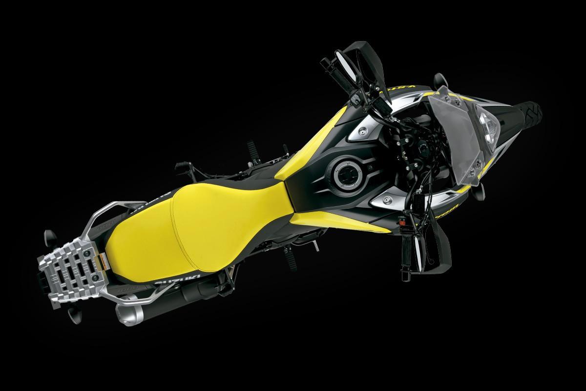 Imagem aerea da V Strom 1000 para entender sua aerodinâmica