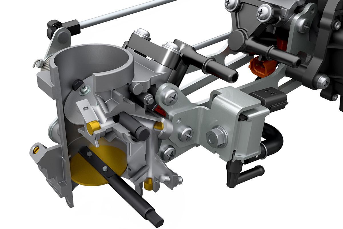 Imagem do sistema de baixa rotação da V-Strom 650 ADV em fundo branco
