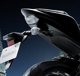 Imagem que mostra as luzes traseiras em LED da S1000