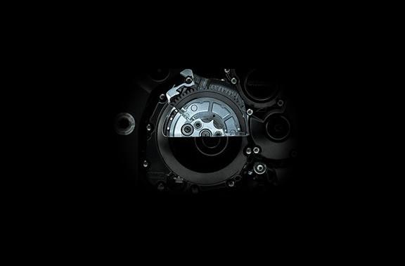 Imagem mostrando como é por dentro do sistema de embreagem da S1000